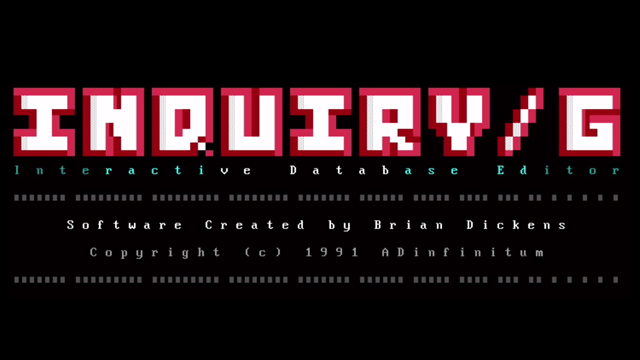 Inquiry/E Title Screen